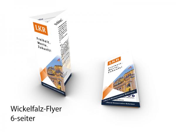 Bundes-Flyer (Wickelfalz din lang -1.000/5.000/10.000 Stk)