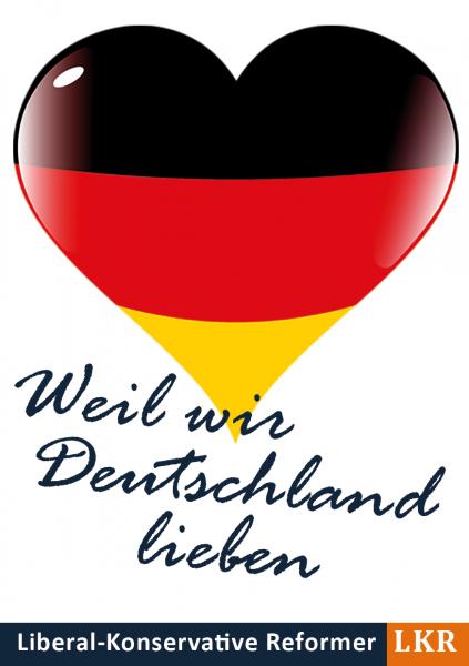 Aufkleber Liebe zu Deutschland
