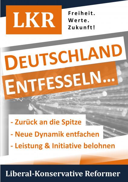 """Wahlplakat Bundestagswahl """"Entfesseln"""" auf Hohlkammerplatte"""
